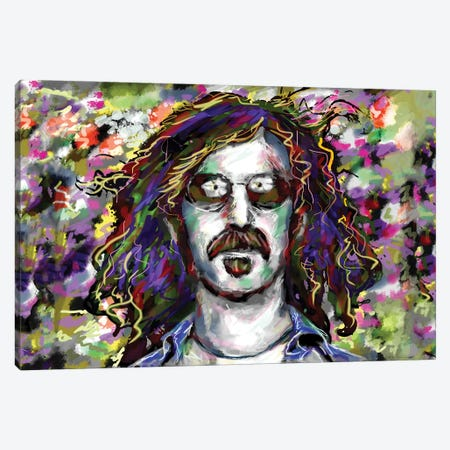"Frank Zappa ""Don't Eat The Yellow Snow"" Canvas Print #RCM129} by Rockchromatic Art Print"