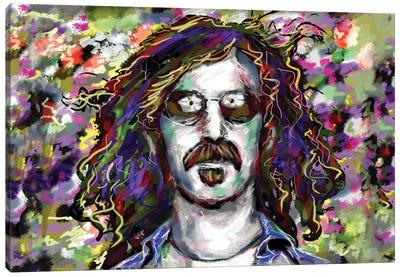 "Frank Zappa ""Don't Eat The Yellow Snow"" Canvas Art Print"
