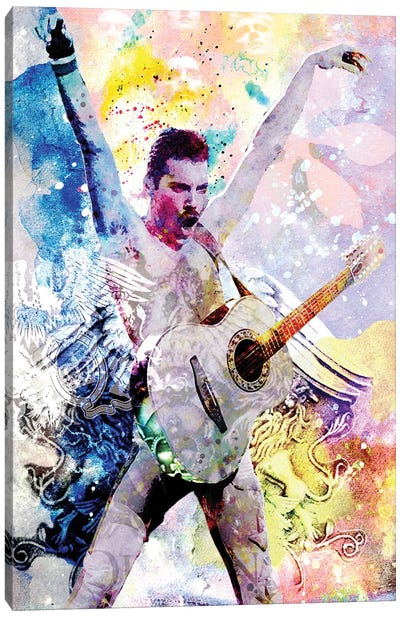 """Freddie Mercury - Queen """"Another One Bites The Dust"""" Canvas Art Print"""