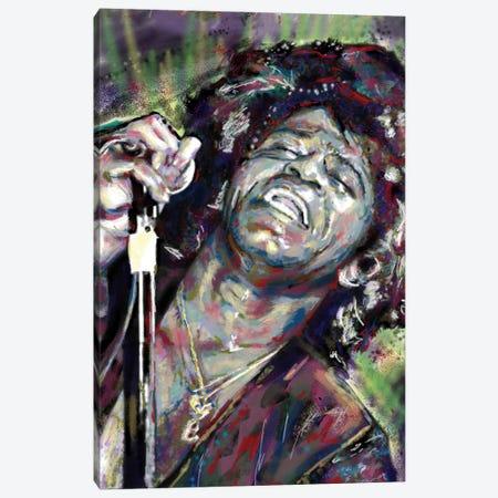 "James Brown ""I Feel Good"" Canvas Print #RCM132} by Rockchromatic Canvas Art"