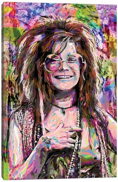 "Janis Joplin ""Me And Bobby Mcgee"" Canvas Art Print"