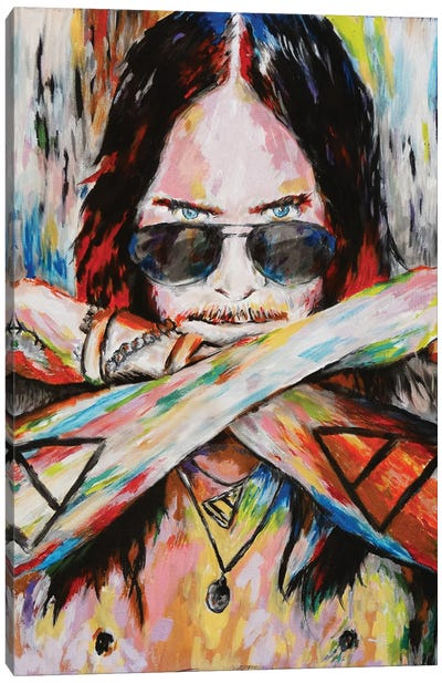 """Jared Leto - Thirty Seconds To Mars """"Do Or Die"""" Canvas Art Print"""