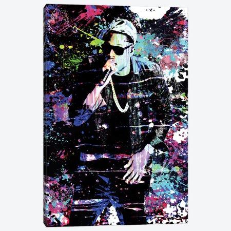 """Jay-Z """"Ball So Hard"""" Canvas Print #RCM135} by Rockchromatic Canvas Print"""