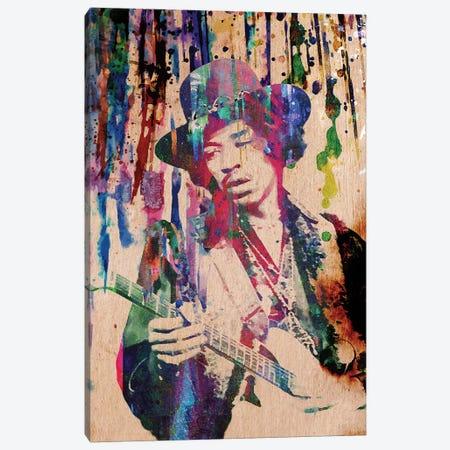 """Jimi Hendrix """"Purple Haze"""" Canvas Print #RCM138} by Rockchromatic Canvas Art"""