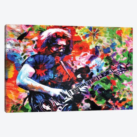 "Jerry Garcia - The Grateful Dead ""Not Fade Away"" Canvas Print #RCM139} by Rockchromatic Canvas Art"