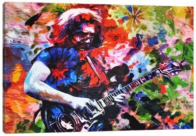 """Jerry Garcia - The Grateful Dead """"Not Fade Away"""" Canvas Art Print"""