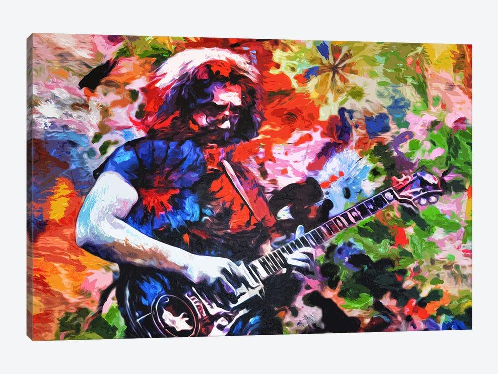 "Jerry Garcia - The Grateful Dead ""Not Fade Away"" by Rockchromatic 1-piece Canvas Artwork"