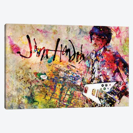 "Jimi Hendrix ""Voodoo Child"" Canvas Print #RCM140} by Rockchromatic Canvas Print"