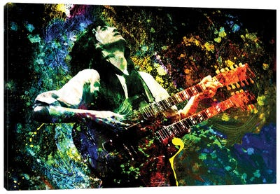 """Jimmy Page - Led Zeppelin """"Song Remains The Same"""" Canvas Art Print"""