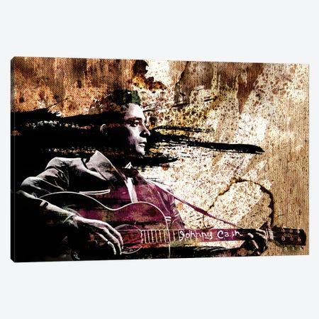 "Johnny Cash ""I Shot A Man In Reno"" Canvas Print #RCM144} by Rockchromatic Canvas Wall Art"