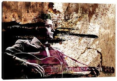 """Johnny Cash """"I Shot A Man In Reno"""" Canvas Art Print"""