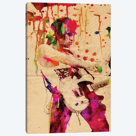 """Keith Richards - The Rolling Stones """"Wild Wild Horses"""" Canvas Print #RCM145} by Rockchromatic Canvas Artwork"""