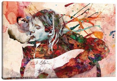 "Kurt Cobain - Nirvana ""Load Up On Guns"" Canvas Art Print"