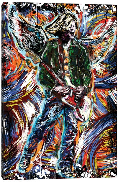 "Kurt Cobain - Nirvana ""Come Are You Are"" Canvas Art Print"