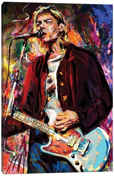 "Kurt Cobain - Nirvana ""Lake Of Fire"" Canvas Art Print"