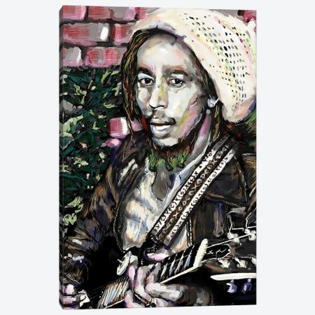 """Bob Marley """"No Woman No Cry"""" Canvas Print #RCM150} by Rockchromatic Canvas Art"""