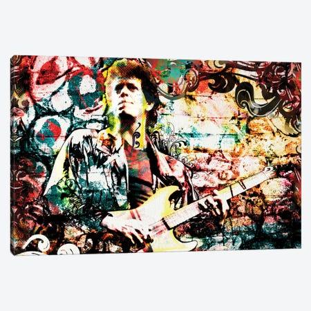 "Lou Reed - Velvet Underground ""Walk On The Wild Side"" Canvas Print #RCM152} by Rockchromatic Canvas Artwork"