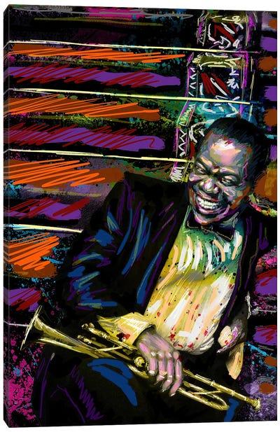 "Louis Armstrong - Jazz ""What A Wonderful World"" Canvas Art Print"