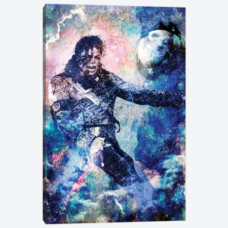 "Michael Jackson ""The Man In The Mirror"" Canvas Print #RCM156} by Rockchromatic Canvas Print"