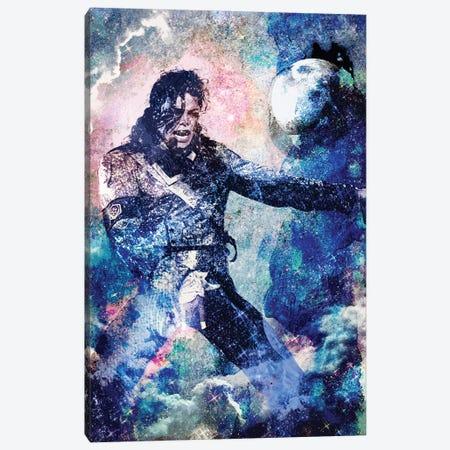 "Michael Jackson ""The Man In The Mirror"" Canvas Print #RCM156} by Rockchromatic Canvas Print"