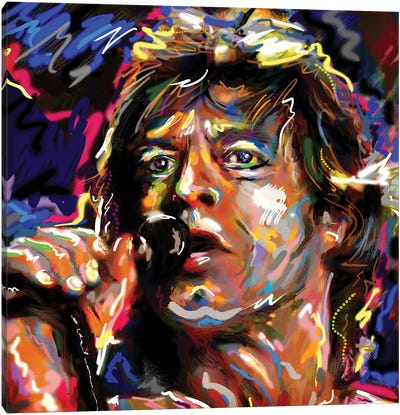 "Mick Jagger - Rolling Stones ""Jumpin' Jack Flash"" Canvas Art Print"