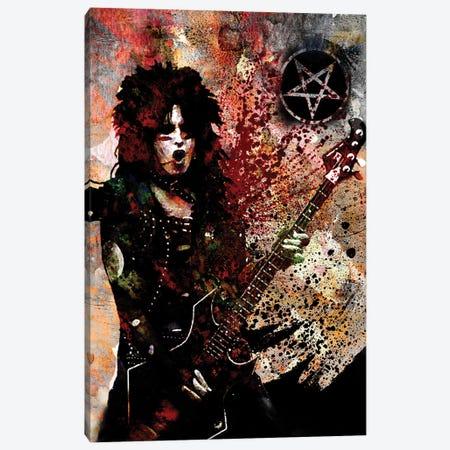 """Nikki Sixx - Motley Crue """"Kickstart My Heart"""" Canvas Print #RCM161} by Rockchromatic Art Print"""