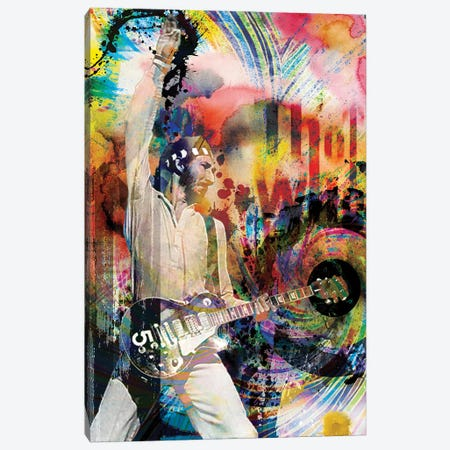 """Pete Townshend - The Who """"Teenage Wasteland"""" Canvas Print #RCM162} by Rockchromatic Canvas Print"""