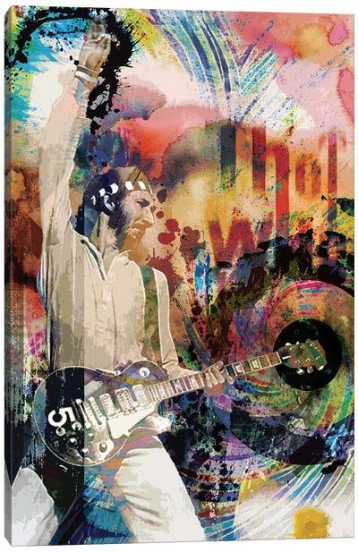 "Pete Townshend - The Who ""Teenage Wasteland"" Canvas Art Print"
