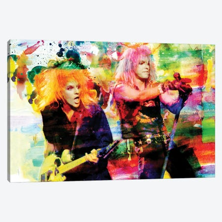 """Poison - Bret Michaels & Cc Deville """"Talk Dirty To Me"""" Canvas Print #RCM165} by Rockchromatic Canvas Art"""
