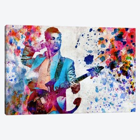"Prince ""Purple Rain"" Canvas Print #RCM166} by Rockchromatic Canvas Wall Art"