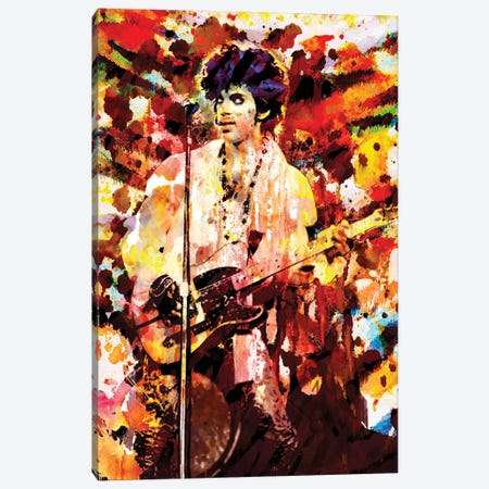 "Prince ""Lets Go Crazy"" Canvas Print #RCM167} by Rockchromatic Canvas Art"