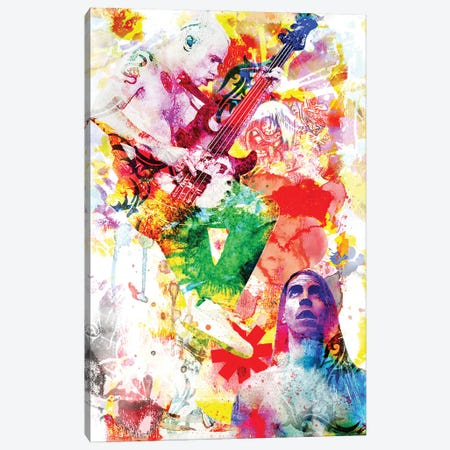 """Red Hot Chili Peppers """"Dream Of Californication"""" Canvas Print #RCM168} by Rockchromatic Canvas Print"""