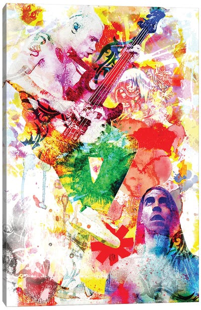 """Red Hot Chili Peppers """"Dream Of Californication"""" Canvas Art Print"""