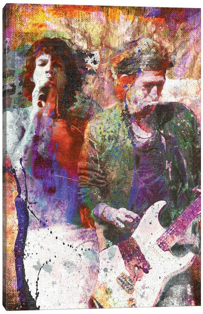 """Rolling Stones - Mick Jagger And Keith Richards """"Can't You Hear Me Knockin"""" Canvas Art Print"""