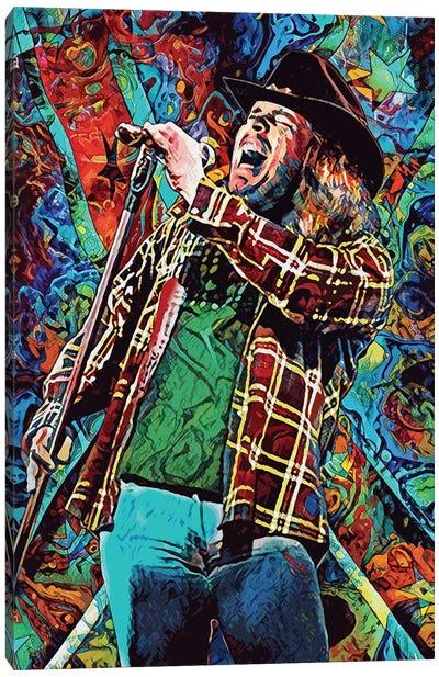 "Ronnie Van Zant - Lynyrd Skynyrd ""Free Bird"" Canvas Art Print"