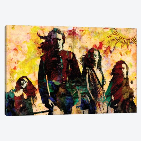 """Alice In Chains """"Here Comes The Rooster"""" Canvas Print #RCM180} by Rockchromatic Canvas Art Print"""