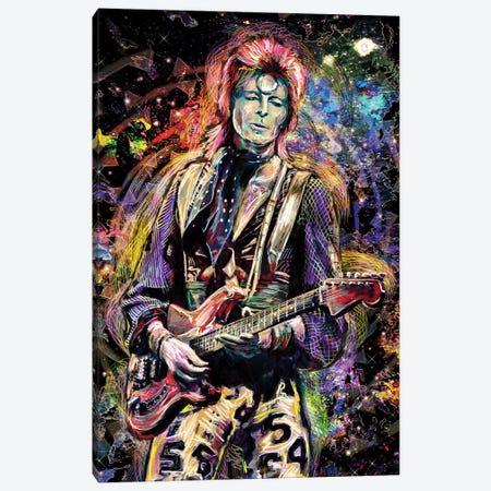 "David Bowie ""Ziggy Played Guitar"" Canvas Print #RCM184} by Rockchromatic Canvas Artwork"