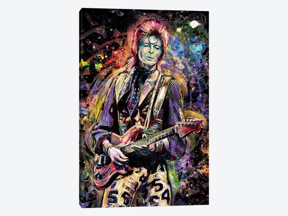 """David Bowie """"Ziggy Played Guitar"""" by Rockchromatic 1-piece Canvas Art"""