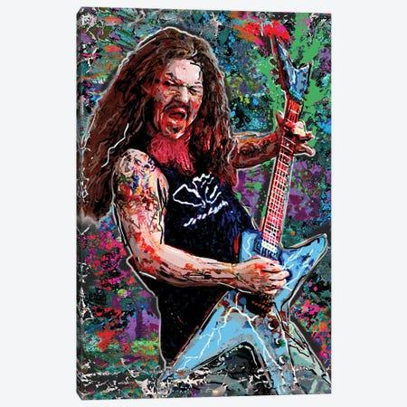 "Dimebag Darrel - Pantera ""Cowboys From Hell"" Canvas Print #RCM185} by Rockchromatic Canvas Art"
