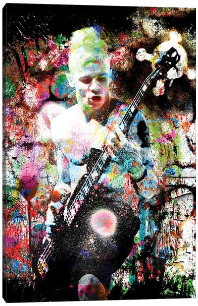 """Flea - Red Hot Chili Peppers """"Suck My Kiss"""" Canvas Art Print"""