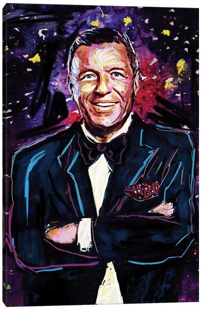 """Frank Sinatra """"Old Blue Eyes"""" Canvas Art Print"""