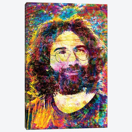 "Jerry Garcia - The Grateful Dead ""Ripple"" Canvas Print #RCM192} by Rockchromatic Canvas Art"