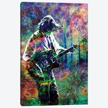 """John Bell - Widespread Panic """"Barstools And Dreamers"""" Canvas Print #RCM196} by Rockchromatic Canvas Art Print"""