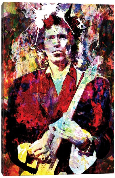 """Keith Richards - Rolling Stones """"Can't You Hear Me Knockin"""" Canvas Art Print"""