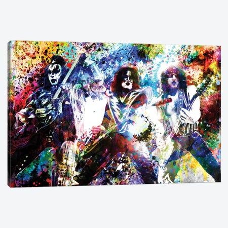"Kiss ""God Of Thunder"" Canvas Print #RCM198} by Rockchromatic Canvas Artwork"