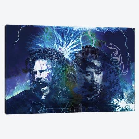 "Metallica ""Ride The Lightning"" Canvas Print #RCM199} by Rockchromatic Canvas Artwork"