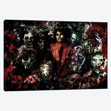 "Michael Jackson ""Thriller"" Canvas Print #RCM200} by Rockchromatic Canvas Wall Art"