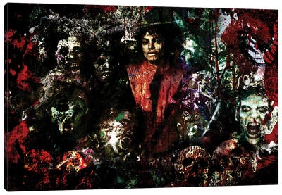 "Michael Jackson ""Thriller"" Canvas Art Print"