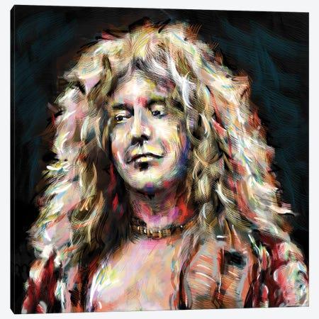 "Robert Plant - Led Zeppelin ""Going To California"" Canvas Print #RCM207} by Rockchromatic Canvas Art Print"