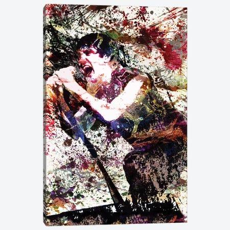 "Trent Reznor - Nine Inch Nails ""Head Like A Hole"" Canvas Print #RCM212} by Rockchromatic Canvas Art Print"